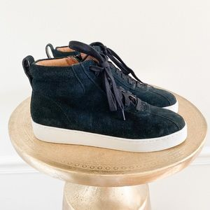 Vionic Jenning Suede Leather High Top Sneaker